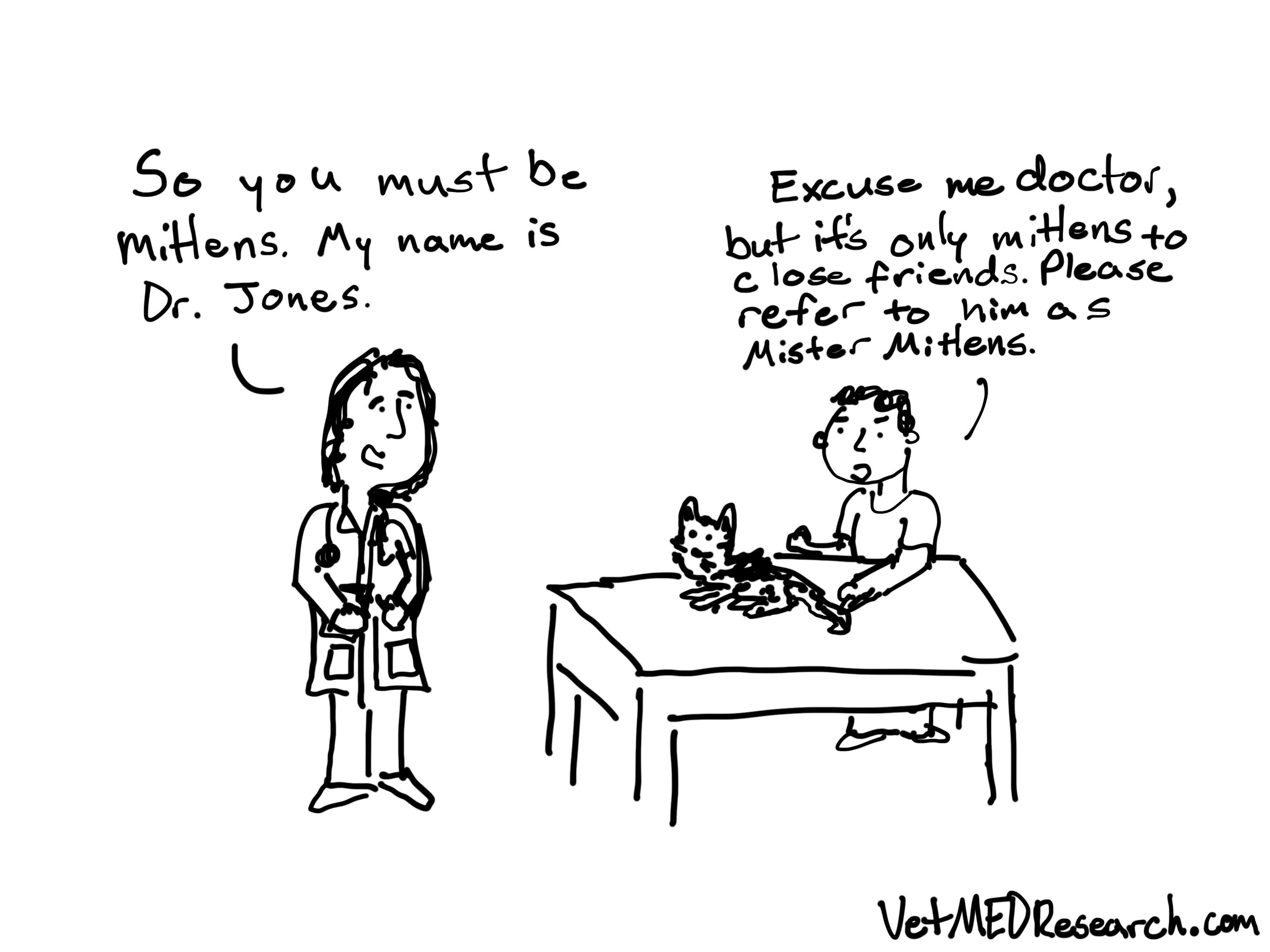 VetMEDResearch Call me Mister Cat Cartoon